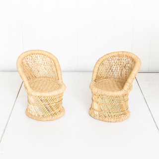 Bamboo Wicker Kids Chair
