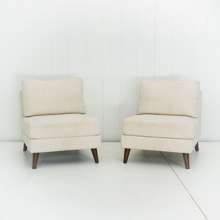 Cream Armless Set of Chairs