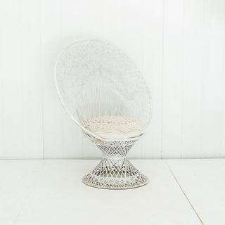 Spun Fiberglass White Chair