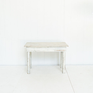 Whitewash Rustic Style Farmhouse Table