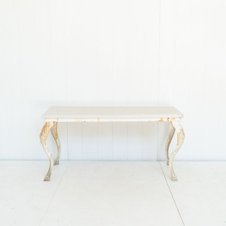 Iron Base Table with Grey Wash Top