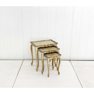 Gold Italian Nesting Tables French Gild Gold Leaf