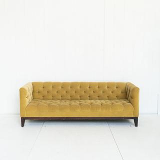 Velvet Citron Green Tufted Sofa