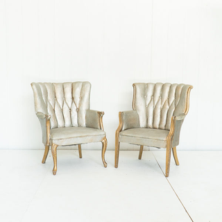 Painted Channel Tufted Chairs