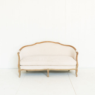 French Cream Linen Sofa