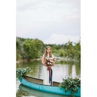 Vintage teal blue canoe