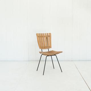 Slated Modern Light Wood Chair