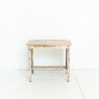 Vintage Shabby Chic Wooden White Wash Table