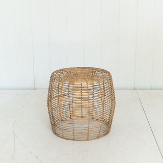 Rattan Wicker Side Table Round