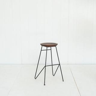 Modern Iron and Wood Barstool