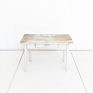 Distressed Kids White Wash Table