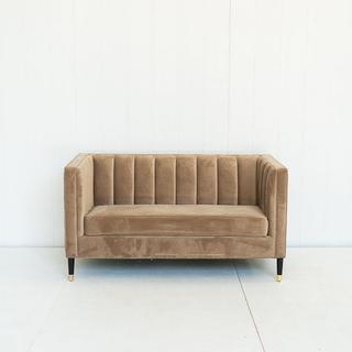 Taupe Channelback Sofa