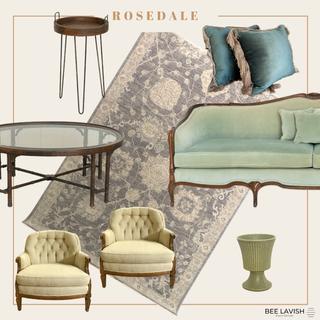 Styled Lounge Blue Velvet Sofa