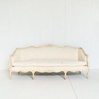 Cream Brocade Sofa French Style Sofa