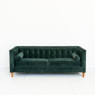Velvet Emerald Green Tufted Sofa