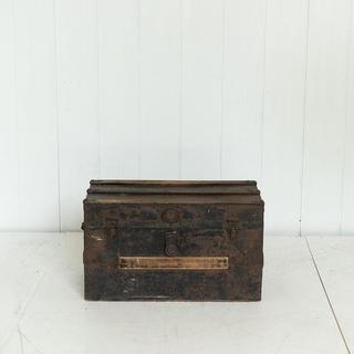 Small Dark Brown Trunk Coffee Table Display