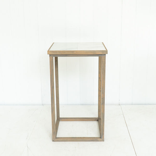 Marble Distressed Grey Cocktail Table