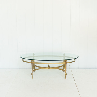 Brass and Glass 70's Coffee Table