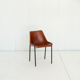 Leather Saddle Stictched Bucket Chairs