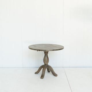 Weathered Grey Wood Round Sweetheart Table
