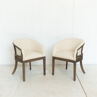 Cream Curved Back Chair