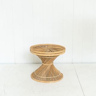 Vintage Wicker Rattan Side Table