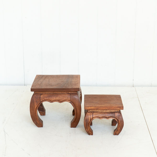 Low Wood Coffee Table Set Accent Piece