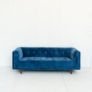 Cobalt Blue Tufted Sofa