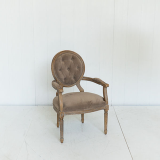 Taupe Tufted French Style Chair