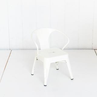 White Metal Kid Size Tolex Chairs