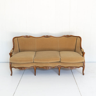 Camel Mohair French Style Sofa