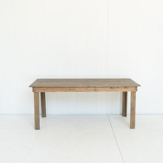 Large Farmhouse Style Dining Table Grey Stain