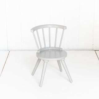 Grey Wooden Mid Century Modern Kids Chairs