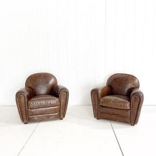 Deep Brown Leather Club Chair