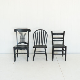 Black Painted Unique Style Chair