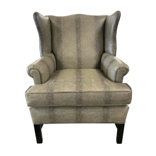 snake wingback gray grey chair