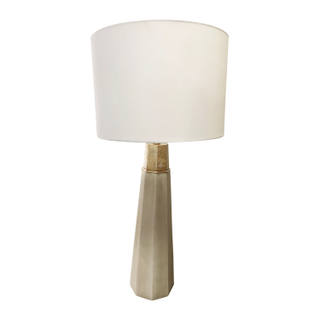 Extra Tall Table Lamp, Ivory and Brass
