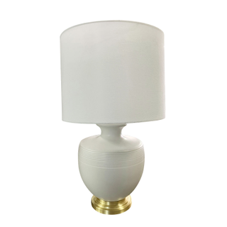 White and Gold Ceramic Table Lamp