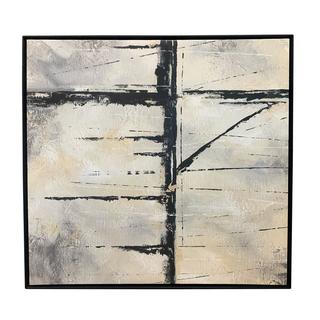 black white neutral square artwork painting