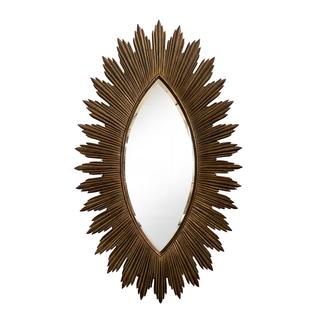 Gilded Sunburst Mirror gold brass