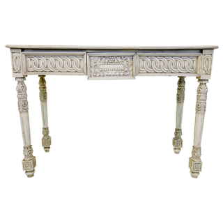 rustic ivory carved console table