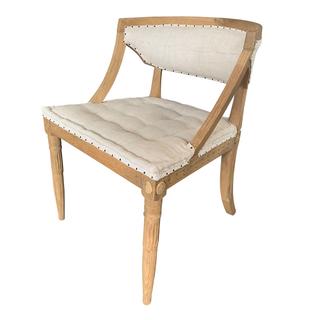 swedish chair restoration hardware bleached wood demilune chair