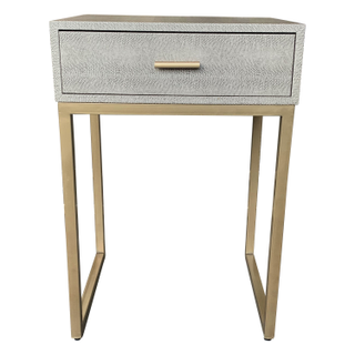 Gray top, Brass Legs Nightstand/Side Table
