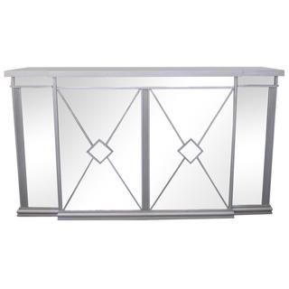mirrored wedding bar with silver wood trim