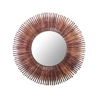 Antique rolling pin sunburst mirror