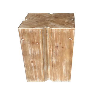 bleached wood table garden stool