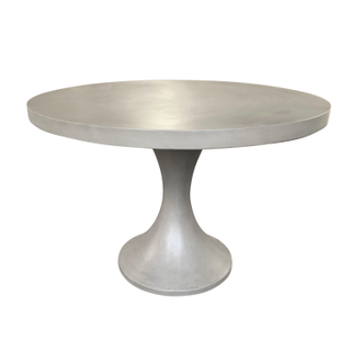 faux concrete dining tulip table round