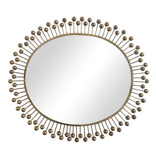 Gilt iron sunburst mirror dots gold mirrored