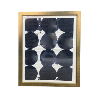 indigo dot tapestry gold frame