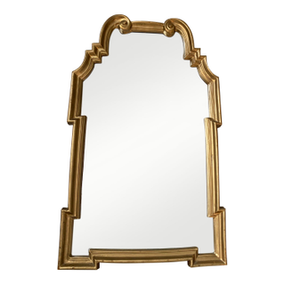 Gold Gilt Wooden Mirror Larbage gold